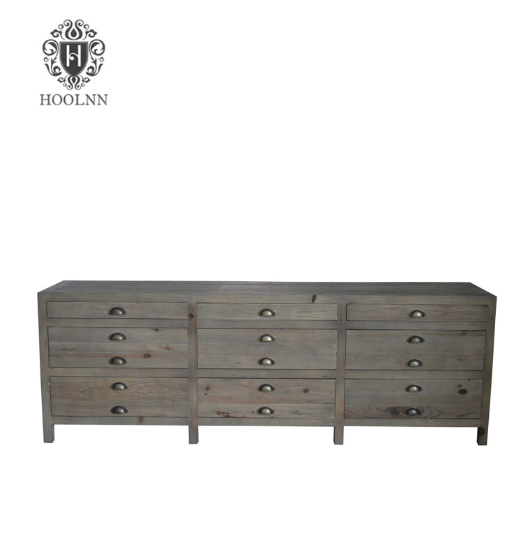French Vintage Style Antique Wooden TV Stand HL369-201