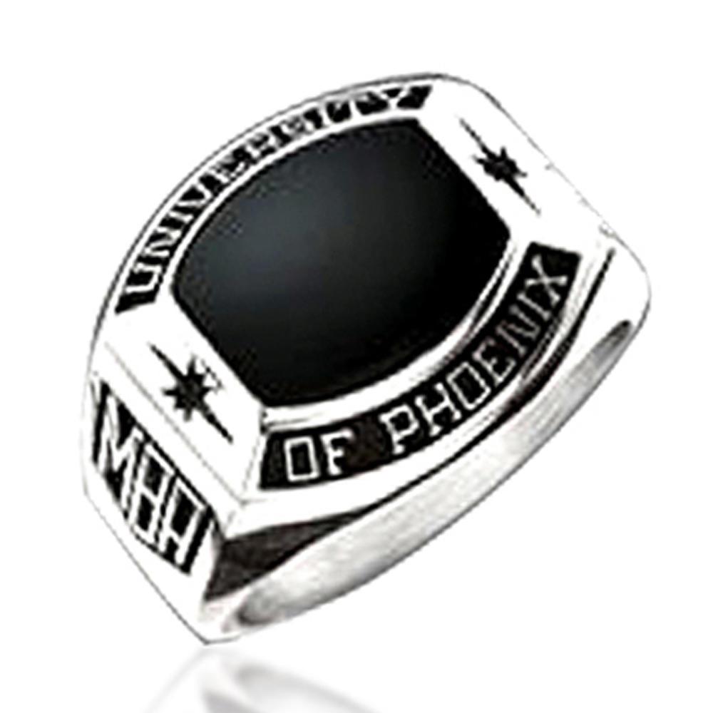 University Of Phoenix Mba White And Black Onyx Class Ring