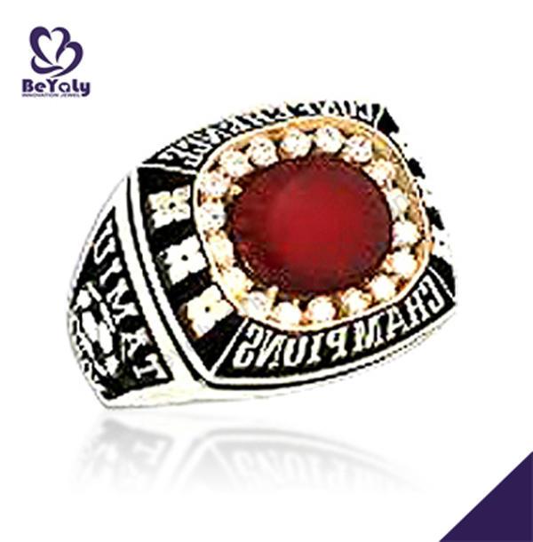 Memory souvenir custom cz softball championship rings