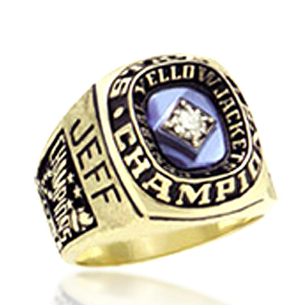 Gold plating custom signet low price students the top class ring