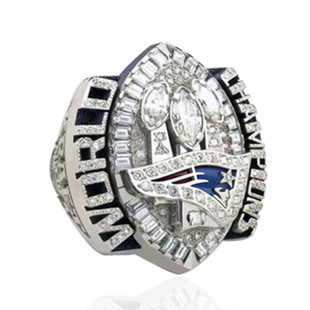 2004 New England Patriots Gemstone Set Graduation Rings