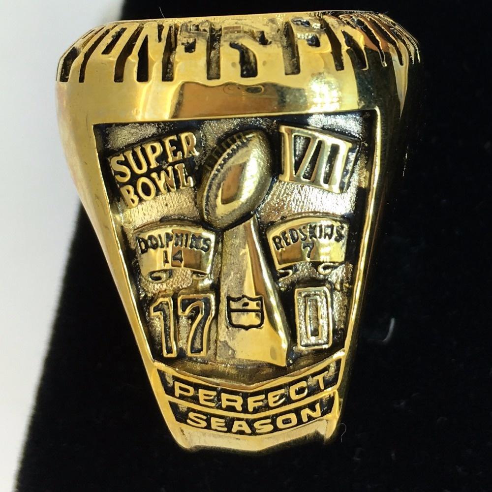 1972 Miami Dolphins Cubic Zircon Championship Ring