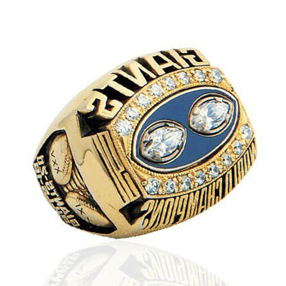 Gold Plated New York Giants different types stones rings