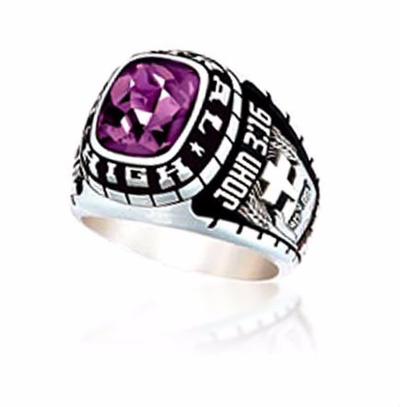 Wholesale Price Gemstone Group Custom Signet Class School Ring