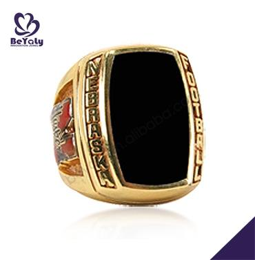Black painting signet teamwork youth football champions rings