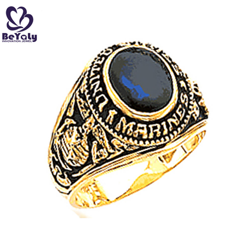 United State Marines gold plating unique custom military rings