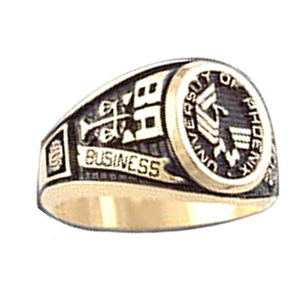 University Of Phoenix Ba Business Cz Finger Class Rings