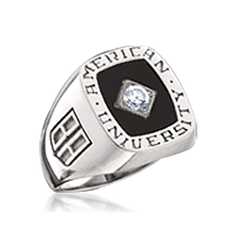American BA university unique diamond eternity rings