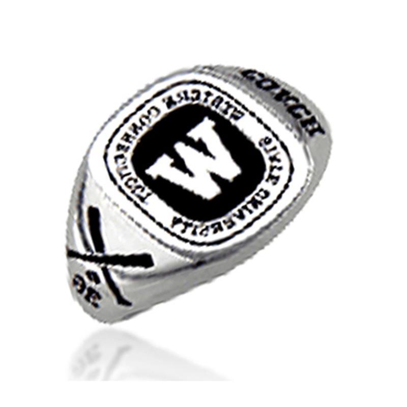 Custom design word printed brass men's signet rings