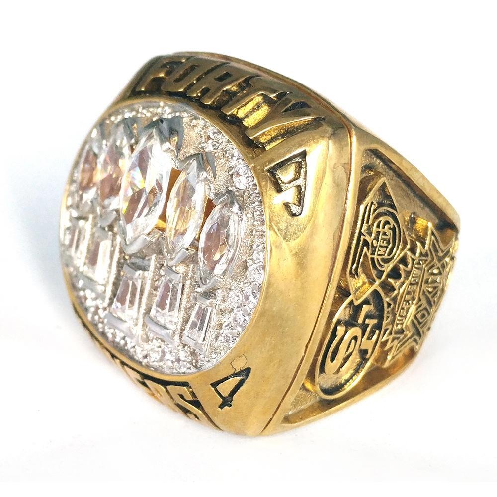 Fashion Shiny Multi Stone New Design Gold Finger Ring