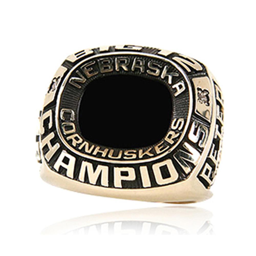 Black painting custom signet kids baseball championship rings