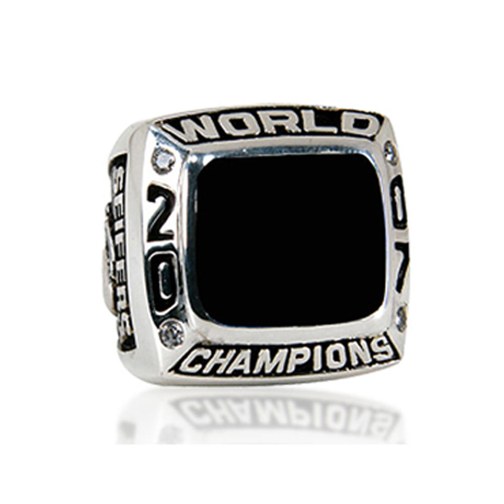 Black painting custom signet kids baseball championship rings