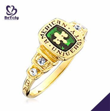American University gold color brilliant hot sale ring