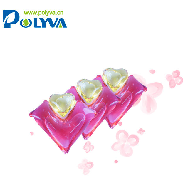 New OEM design water soluble laundry detergent pod scented beads washing surface cleaner liquid