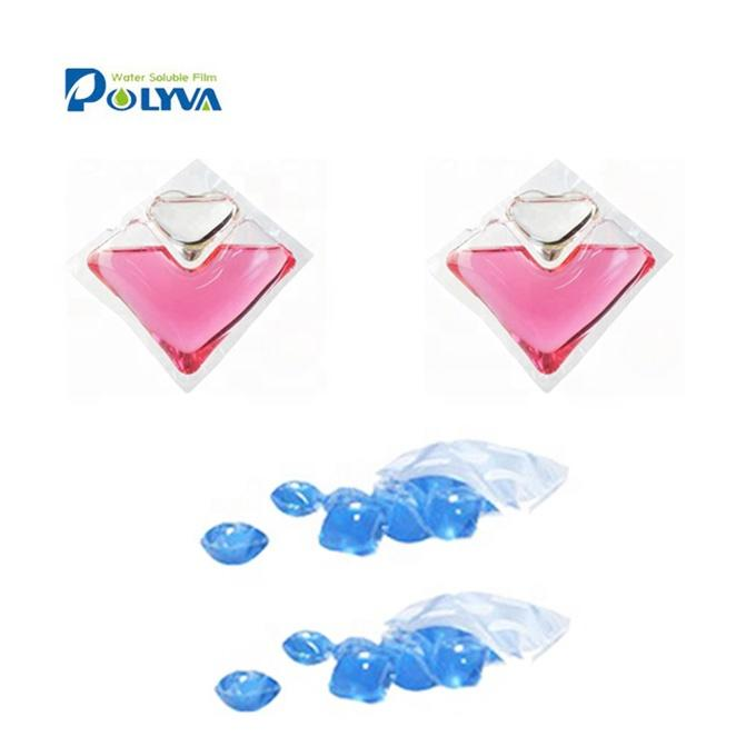 dishwasher tablet with pva water soluble film scented beads washing water soluble laundry detergent pod