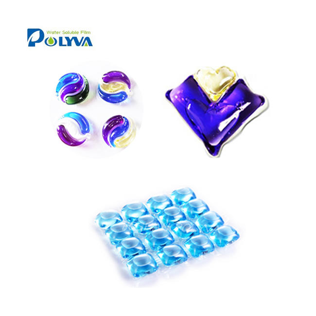 cleaning product pva water soluble film laundry detergent capsule water soluble bag detergent pods