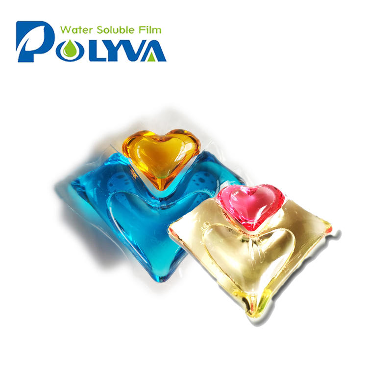 Polyva 2 in 1 liquid detergent capsules beads