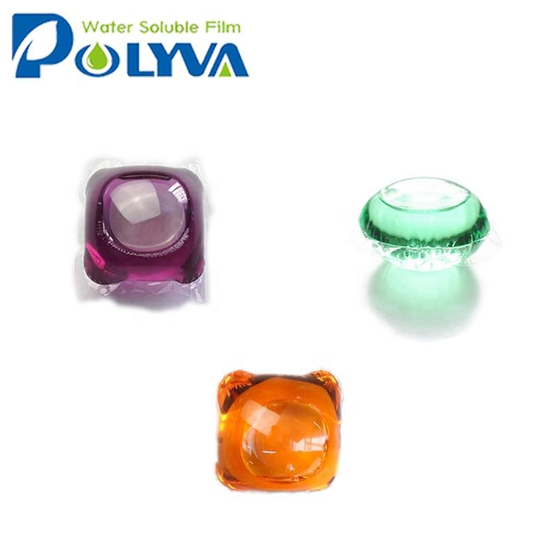 Polyva water soluble film packing laundry capsules