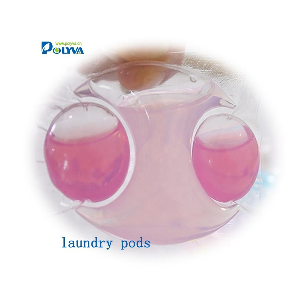 polyva water soluble film liquid capsules laundry detergent pods for washing shoes
