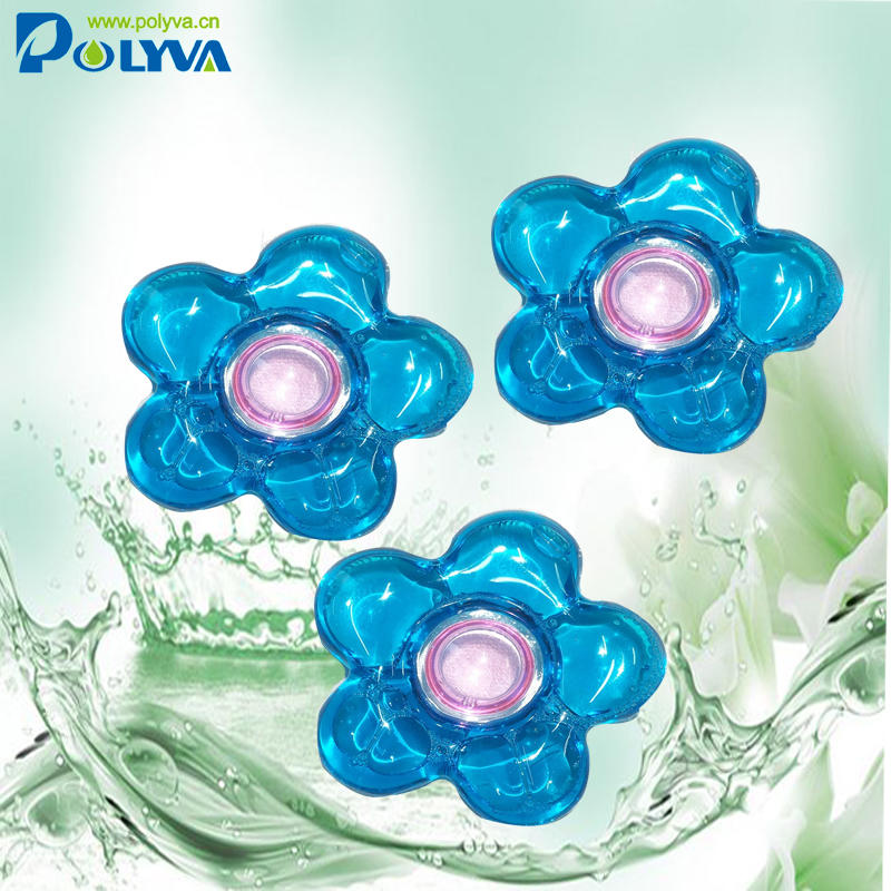 polyva High Quality Wholesale Laundry liquid Beads Condensate Detergent Pods Cloth Washing Pods