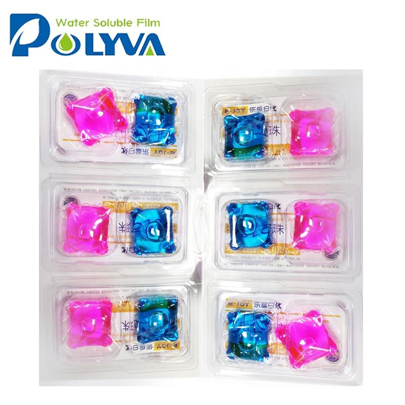 laundry liquid pods water-soluble film beads for family laundry
