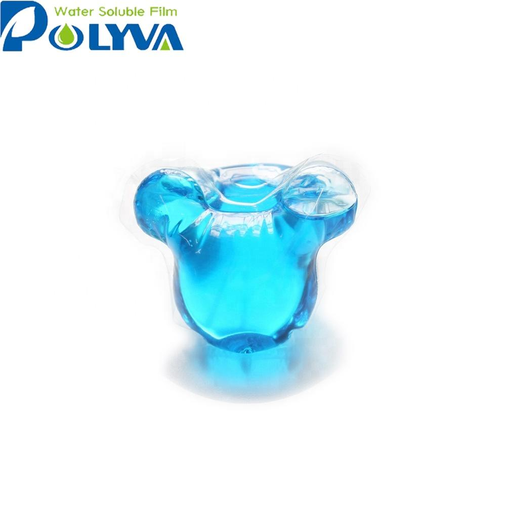 Polyva organic eco laundry detergent water-soluble film pva
