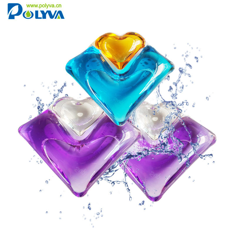 2 in 1 water soluble film laundry detergent liquid pod Healthy Laundry Washing Green Product Super Clean 20g Liquid Soluble Film