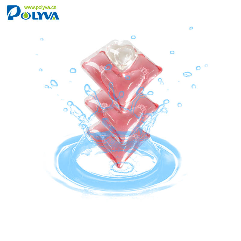 PolyvaHighly sterilized colorful lasting fragrance laundry detergent capsules perfume pods for washing clothes
