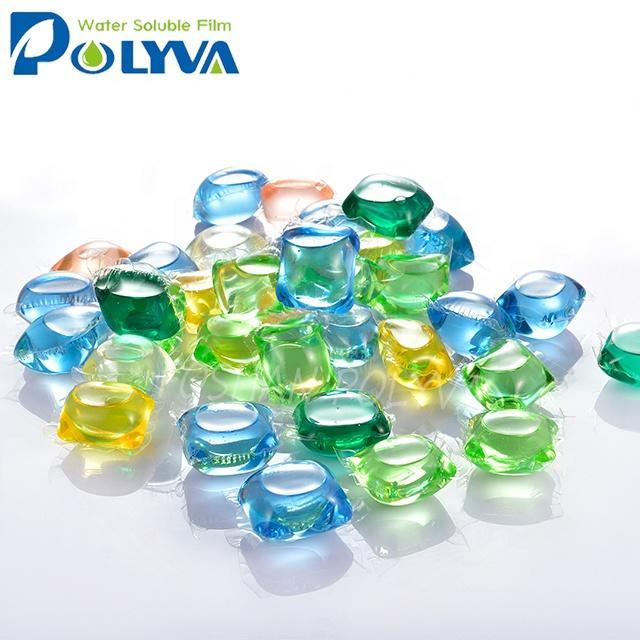 Polyva laundry detergent washing liquid pods beads capsules