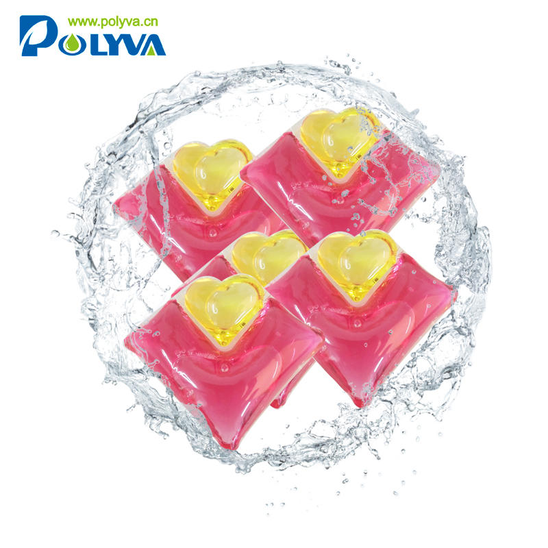 Polyva 2in1new hand carved soap flowers high density liquid laundry detergent powder capsule