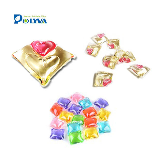 Colorful lasting fragrance washing pods liquid laundry detergent water soluble film capsule detergent box