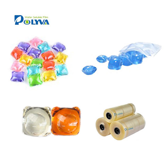 wholesale Easy-use Eco-friendly water soluble capsules semifinished washing powder capsule detergent box