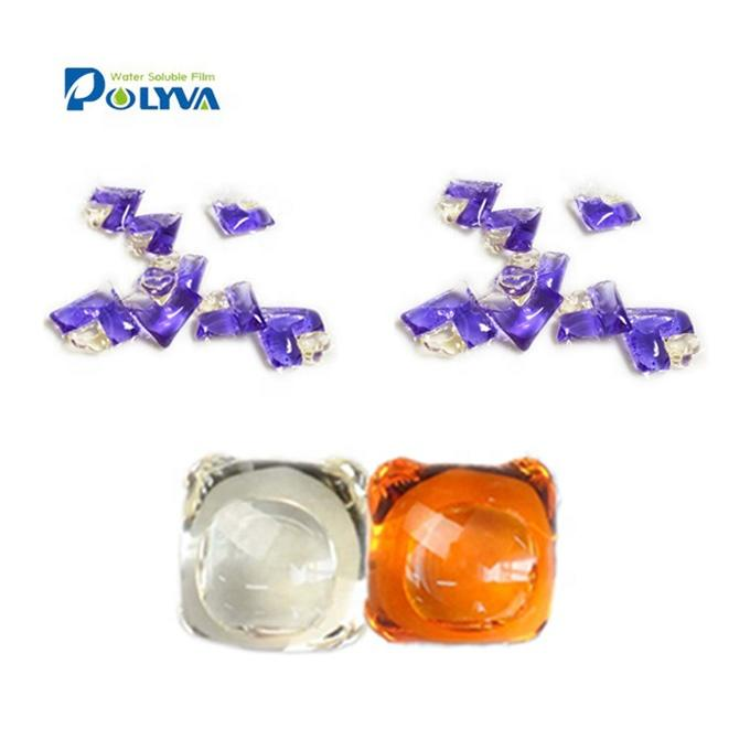 New OEM design dissolvable water soluble capsules scented beads washing water soluble laundry detergent pod