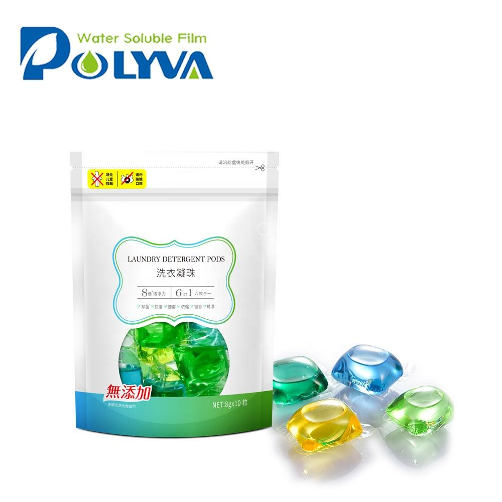 Polyva cleaning water-soluble laundry liquid pods