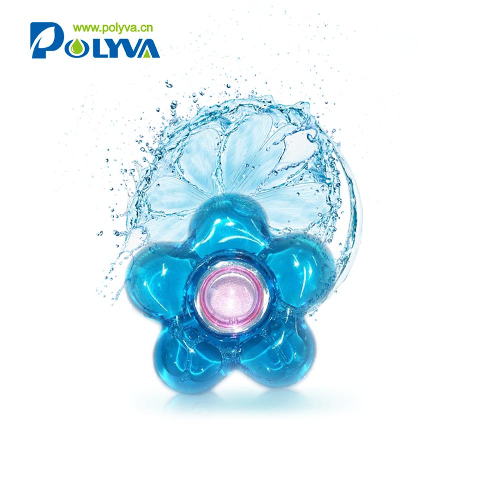 Polyva10g-30g OEM washing detergent capsulesliquid laundry pods detergent Natural detergent pods