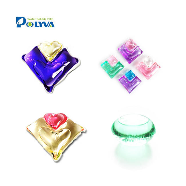 pva water soluble film laundry detergent capsule hand wash liquid soap laundry powder pods detergent