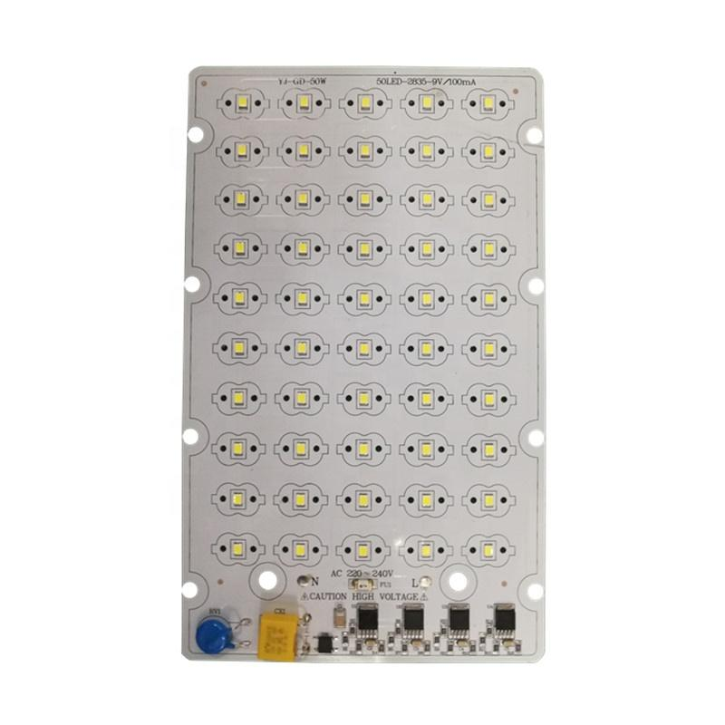 100 lm/W50W CE RoHs certification 220VSMD 2835 LEDs DOB driverless led square pcb pcba module forLED Streetlight