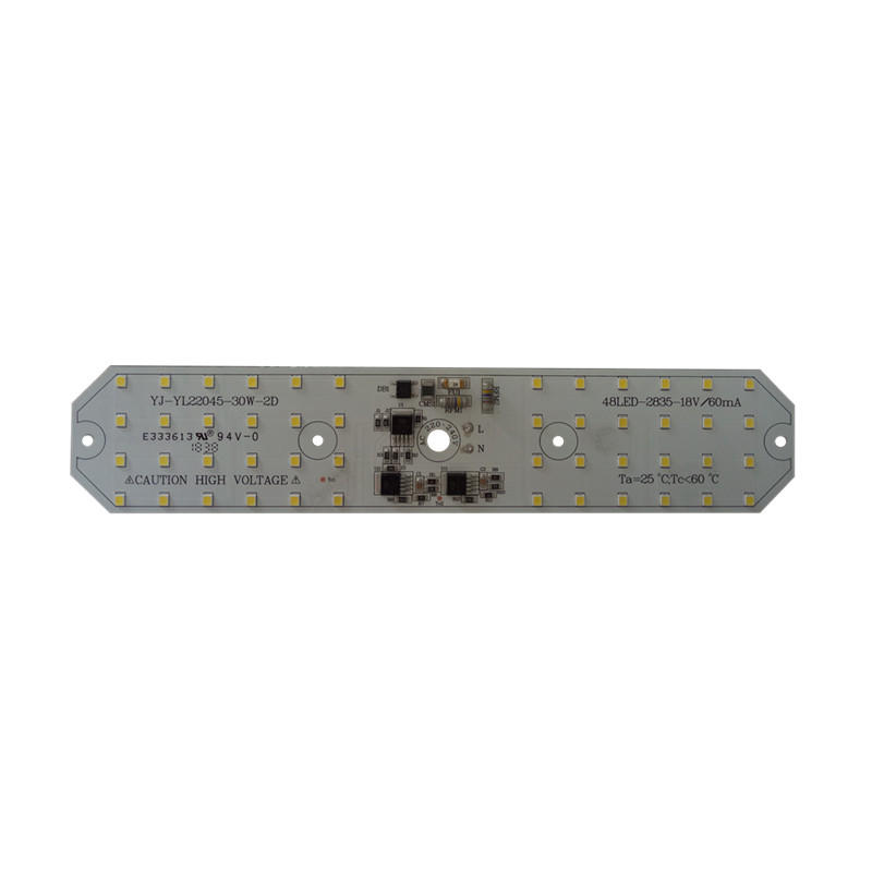 LVD C-Tick PSE CE RoHS Certificated 220x45mm 100lm/W 30W driverfree DOB 220v ac 2835 SMD led PCB Board for streetlight