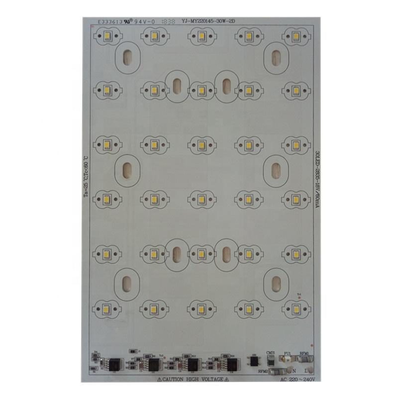 100 lm/W CE RoHs certification AC 220V LEDs DOB driverless 30W led square pcb pcba linear module for LED Streetlight