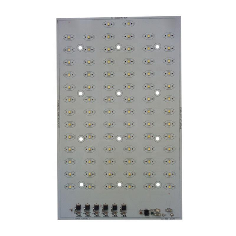 110 lm/WCE RoHs certification AC 220V SMD 2835 LEDs DOB driverless 55W led square pcb pcba linear module forLED Streetlight