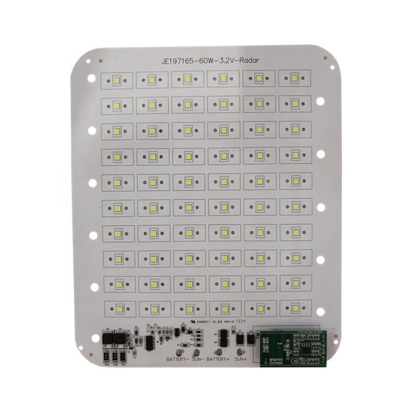 DC 3.2V60W170lm/WSMD square pcb pcba DOB led module for Radar Sensor LED Streetlight