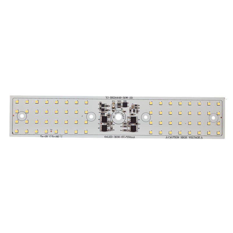 5 year warranty CE Approved 244x49mm 110lm/W 50W driverless Linear DOB 220v ac 3030 SMD led module for streetlight