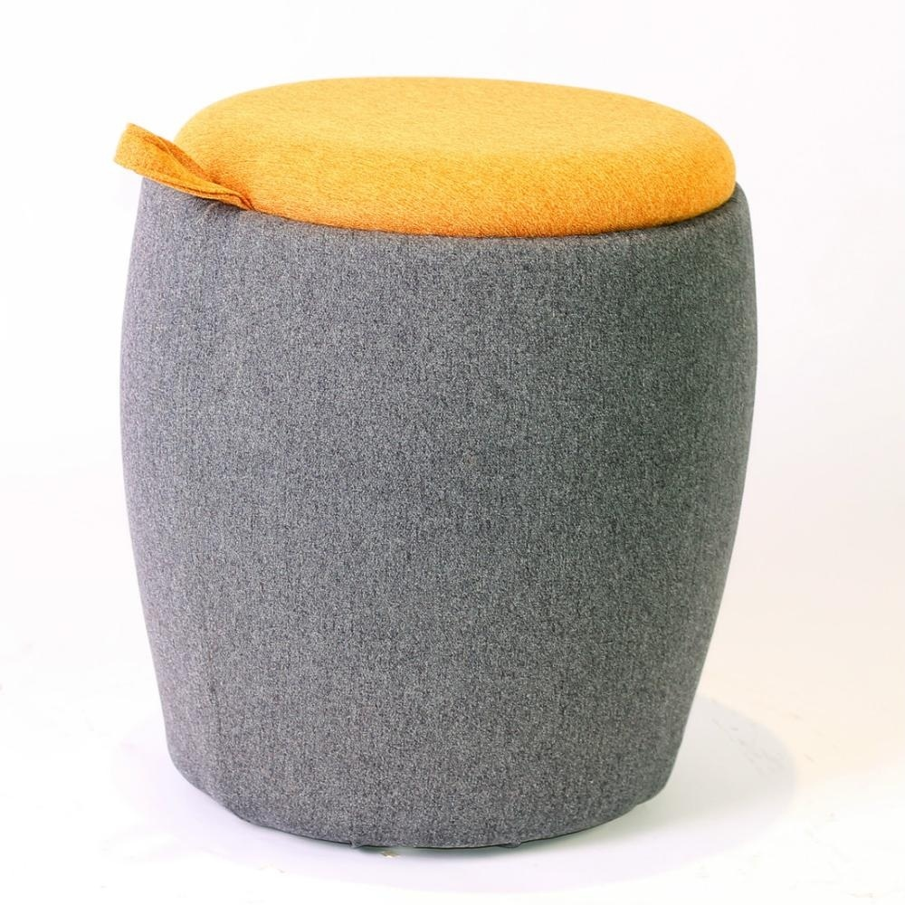 Round Pouf Stool Big Large Storage Leather Large Picture Ottoman