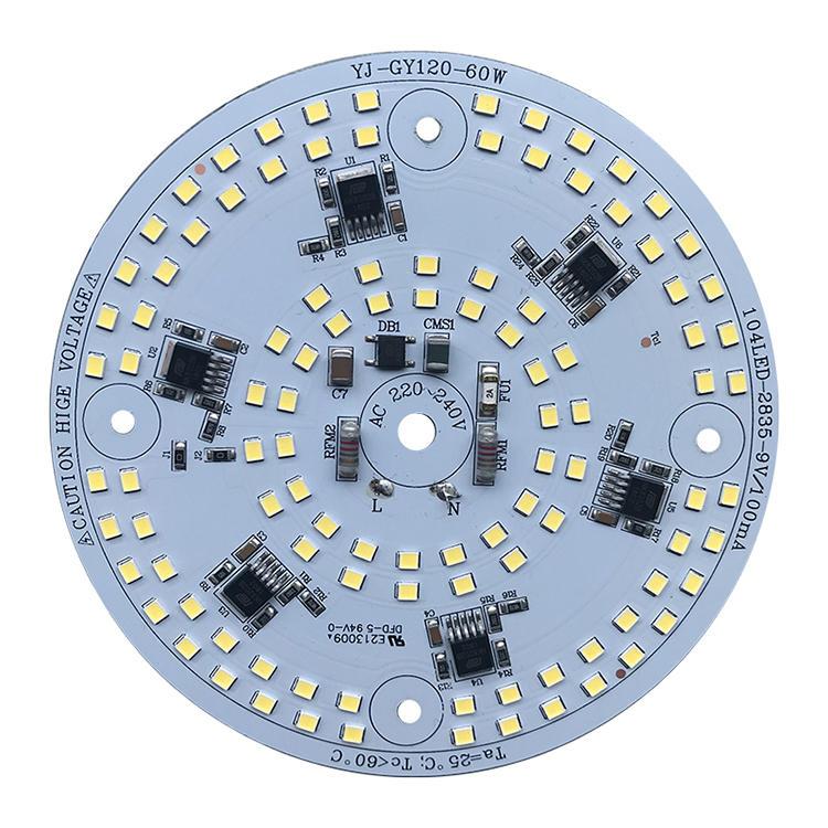 60W 110 lm/W smd rgb white 220v ac led pcb board for floodlight