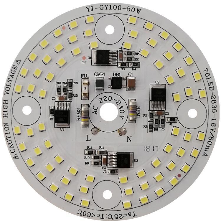 220V/110V 50W 105 lm/W driverless ac smd aluminum pcb led module for LED Work Light