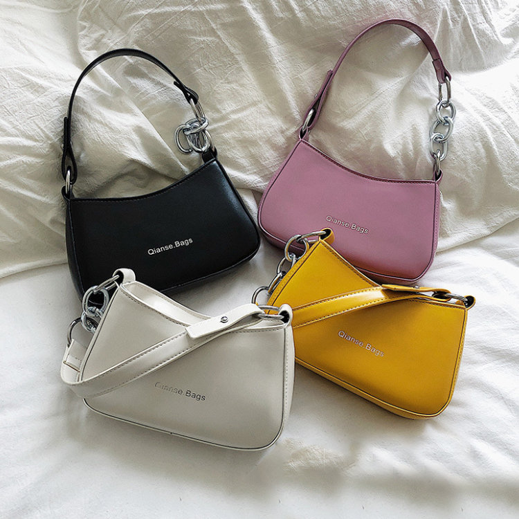 Osgoodway2 trendy cheap price PU leather women fashion underarm single shoulder bag girls purses handbags