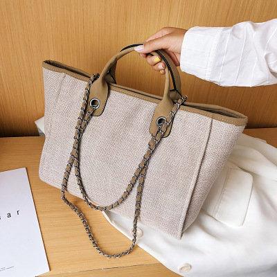 Osgoodway2 Large capacity canvas office tote bag single shoulder bag ladies women trendy handbags