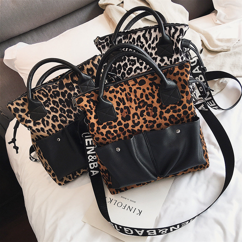 product-Osgoodway-Osgoodway2 leopard print large capacity ladies tote bag luxury leather trendy hand