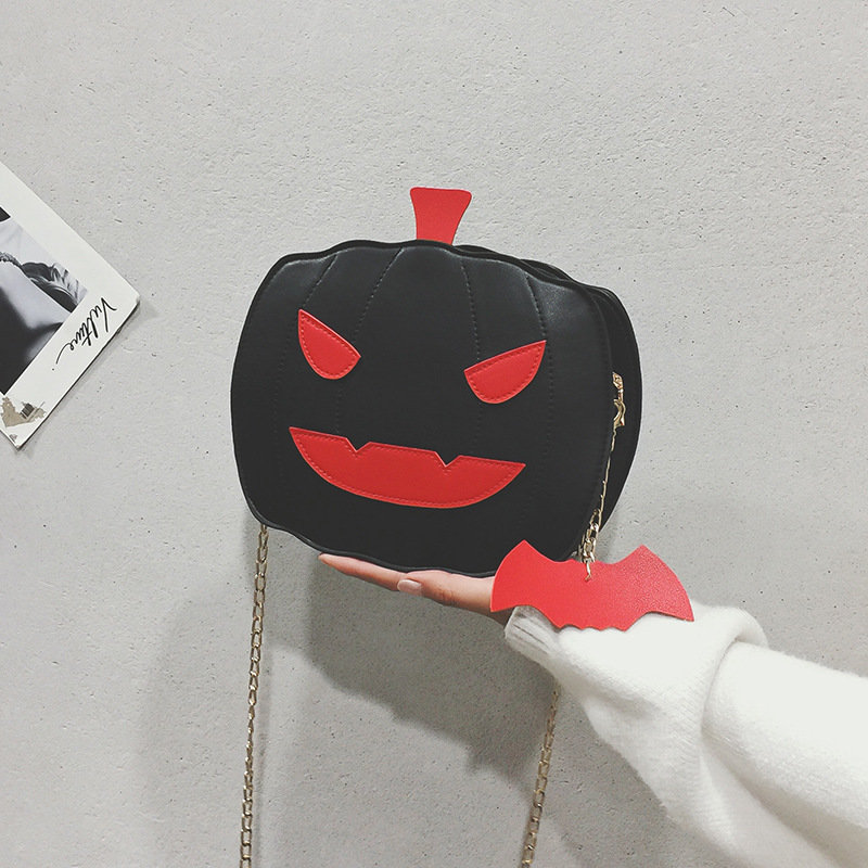 product-Osgoodway2 Funny pumpkin shape cute personality girls chain crossbody bag ladies casual hand-1