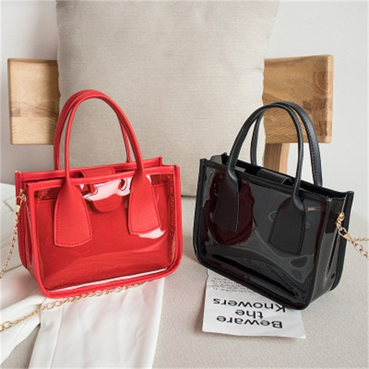 Osgoodway2 Korean personality female crossbody bag transparent purses summer handbags